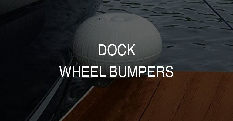 Plastic Rolling Boat Dock Wheels and Edge Bumpers