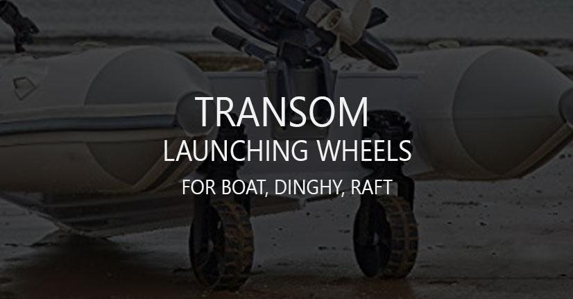 Boat Dinghy Raft Transom Launching Wheels